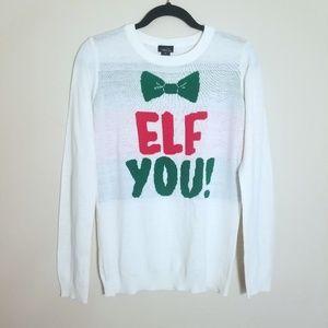 Elf You! Christmas Sweater XL